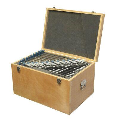 0-12 X 0.0001 Outside Micrometer Set Metal Frame Carbide Tip Wooden Case