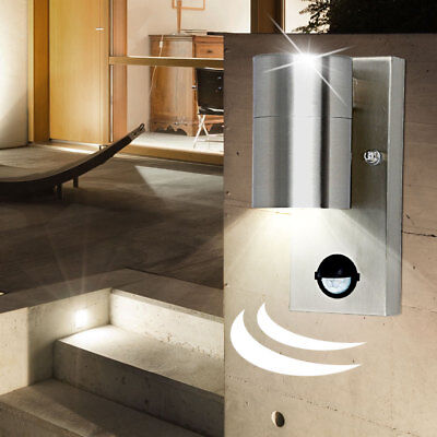 Klassische Außenbeleuchtung Haustür Eingang Wandlampe Bewegungsmelder LxB 7x11cm