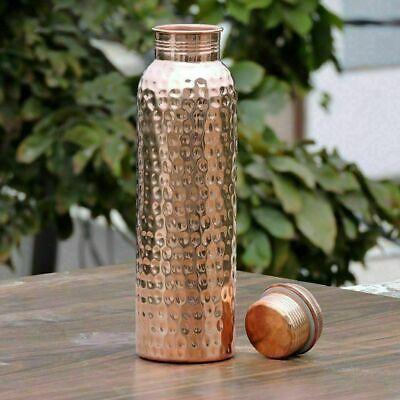 Ayurveda Healing Health Hammered Copper Bottle Drink More Water 900 ml