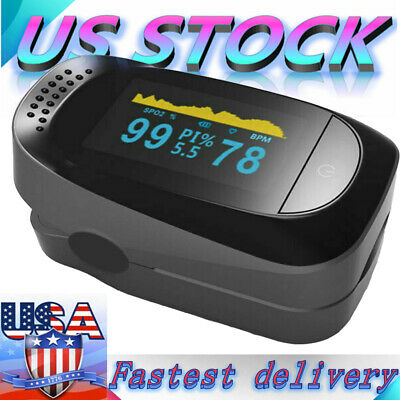 Usa Heart Rate Finger Pulse Oximeter Blood Oxygen Meter Spo2 Monitor Saturation