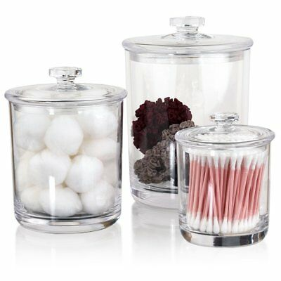 Premium Quality Clear Plastic Apothecary Jars | Set of - Plastic Apothecary Jars