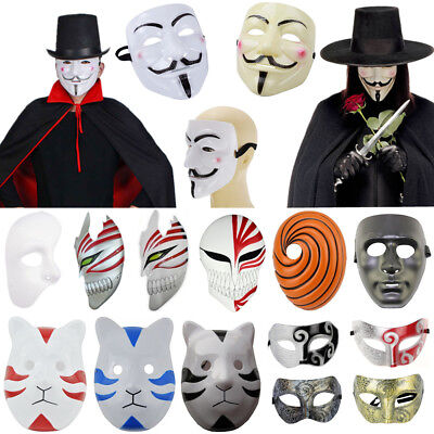 Womens Masquerade Mask Halloween Characters Costume Prop Movie Cosplay Party - Movie Halloween Characters