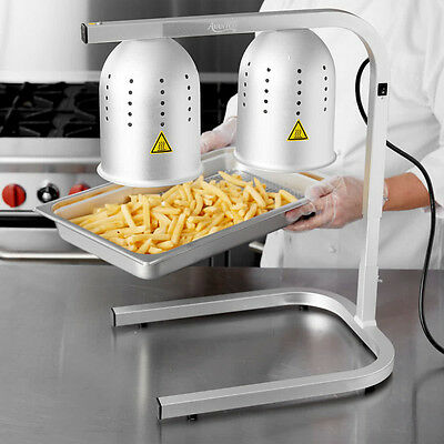 Free Standing Food Warmer Heat Lamp 500w 2 Bulbs Included Restaurant French Fry