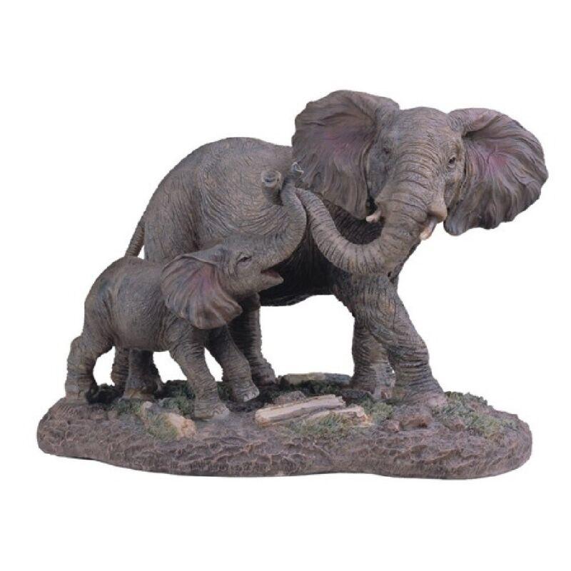 Elephant And Baby Figurine New