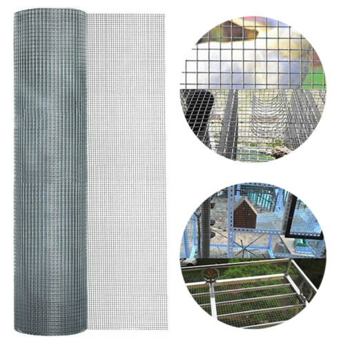 """48*100 inch Galvanized Metal Hardware Cloth 1/4"""" Opening Mes"""