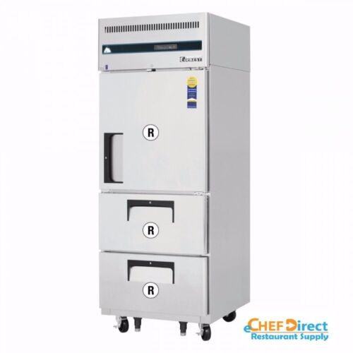Everest Esr1d2 Half Door And Drawer Combo Upright Reach-in Refrigerator