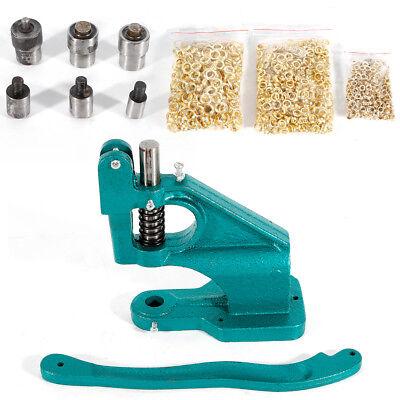3 Die 0 2 4 Grommet Machine 1500grommets Eyelet Hand Press Tool Banner