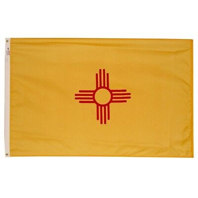 Valley Forge Flag 3' x 5' CANVAS COTTON NOT CHEAP Nylon! New Mexico State Flag - Cheap Garden Flags