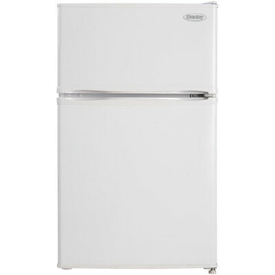 Danby 2-Door Compact Refrigerator w/ 3.2 Cu. Ft. Capacity & Top Freezer...