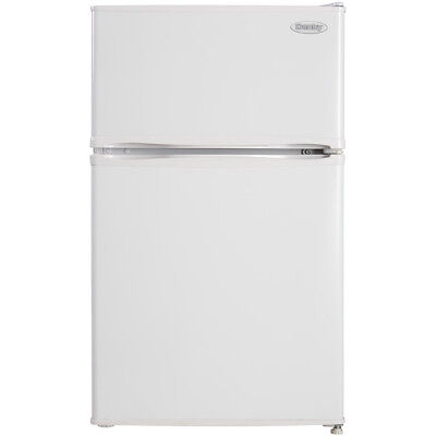 Danby 2-Door Compact Refrigerator w/ 3.2 Cu. Ft. Capacity & Top Freezer in White