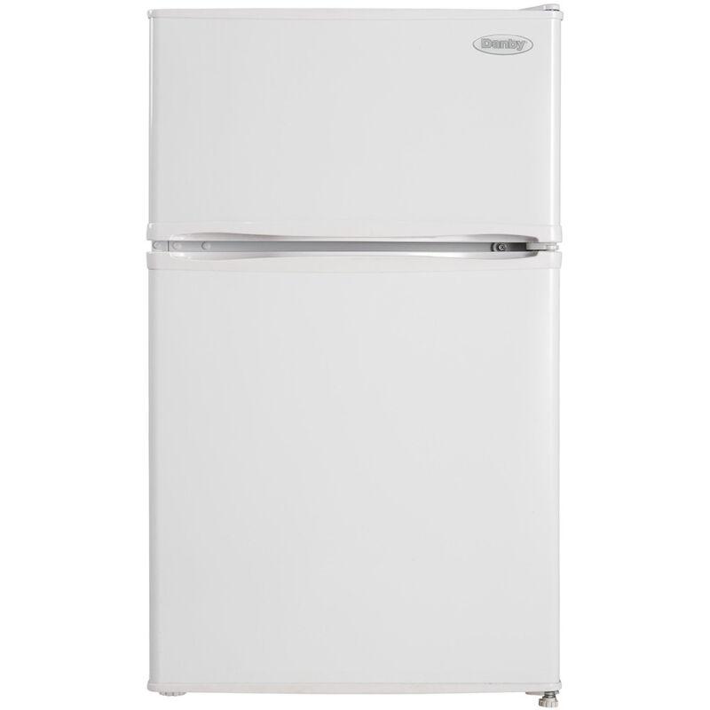 Danby 2-Door Compact Refrigerator w/ 3.2 Cu. Ft. Capacity & Top Freezer in White