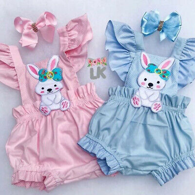Easter Bunny Outfit (Easter Bunny Clothes Newborn Kids Baby Girl Romper Bodysuit Jumpsuit Outfits)