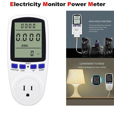 Digital Energy Monitor Power Saving Meter Watt Volt Amp Kwh Electricity Analyzer