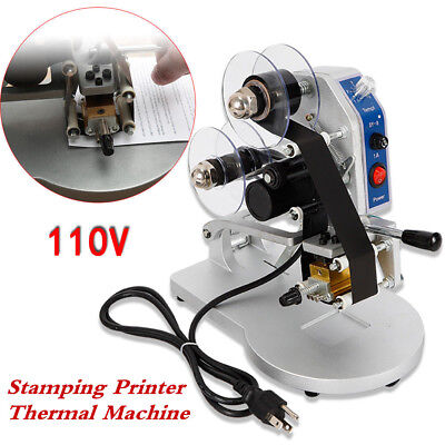 Thermal Hot Foil Stamp Printer 110v Manual Hot Stamp Coding Machine Ribbon Coder
