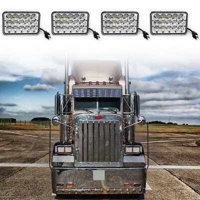(4x Freightliner Classic Projector led headlight sealed beam replace hologen HID)