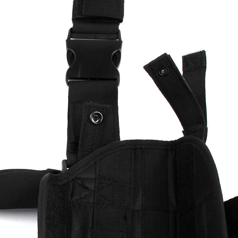 Adjustable Wrap-Around Tactical Thigh Detachable Leg Pistol Holster Pouch Pocket