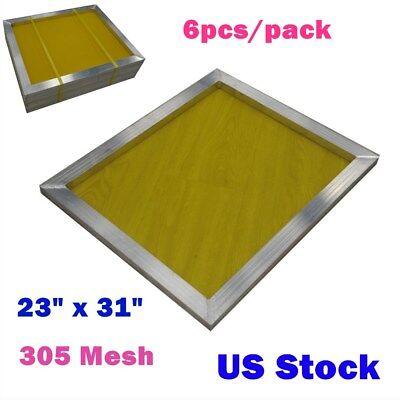 6 Pack 23 X 31 Aluminum Frame Silk Screen Printing Screens 305 Mesh Usa Stock