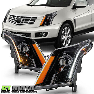 [LED DRL+SwitchBack Signal] 2010-2016 Cadillac SRX Halogen Projector Headlights
