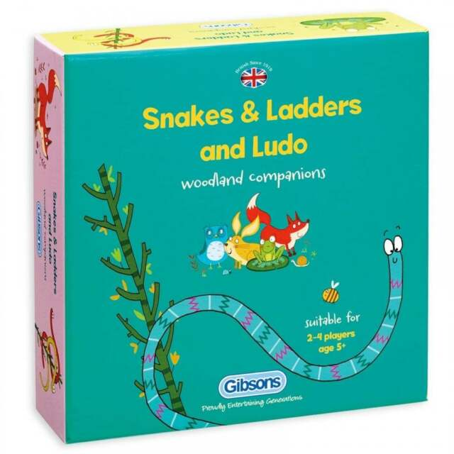 Gibsons Snakes & Ladders and Ludo Game