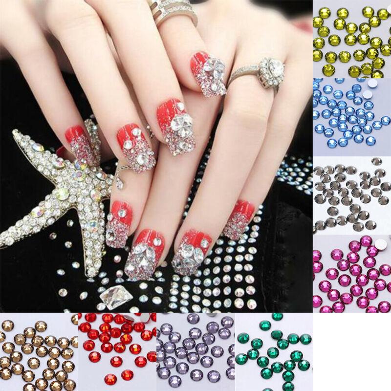 Colorful 1440pcs Quality Crystal Flatback Rhinestones Nail Art Phone Decoration