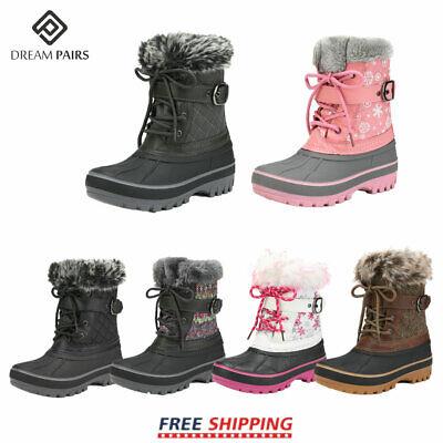 DREAM PAIRS Kids Boys Girls Winter Snow Boots Ankle Waterpro