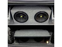 "BMW E46 3 Series Convertible Custom Subwoofer Box 10"" Car Audio Subs Bassbox"