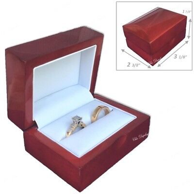 Double Ring Gift Box Engagement Ring Box Deluxe Wedding Ring Box Highest Quality Deluxe Double Gift Box
