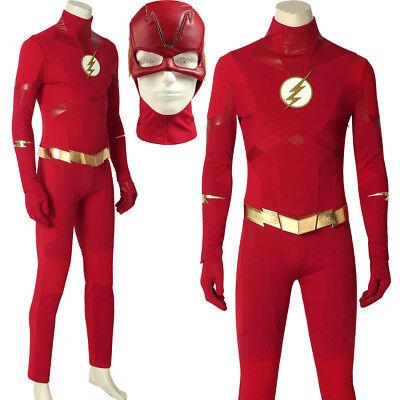 The Flash Costume Season 5 SuperHero Barry Allen Costume Adult Halloween Costume (Flash Costume Men)