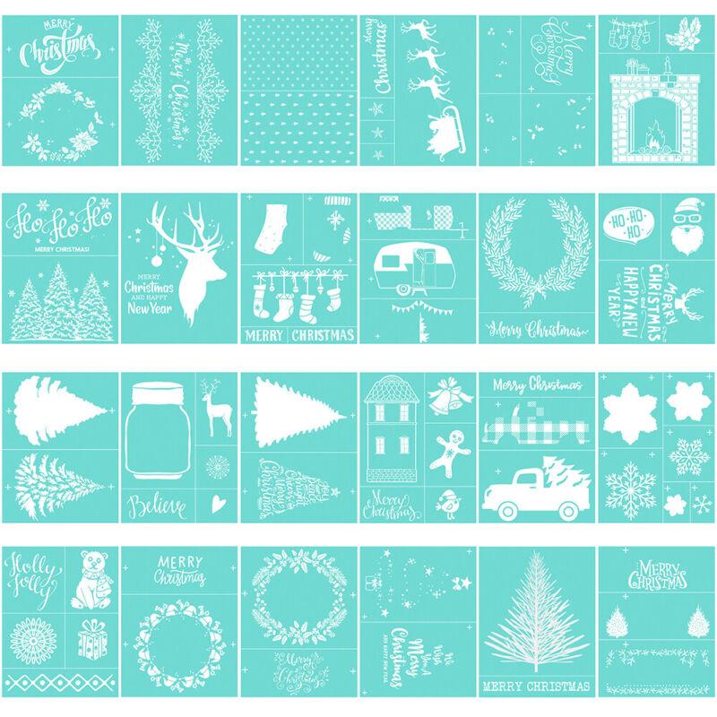 Xmas Silk Screen Printing Stencil Craft Adhesive Mesh for Wood Fabric Glass DIY