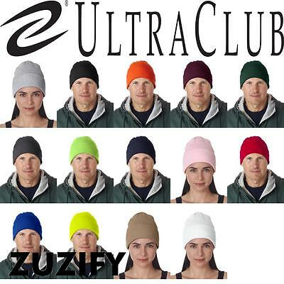 UltraClub 12-Inch Knit Beanie with Cuff. 8130 -