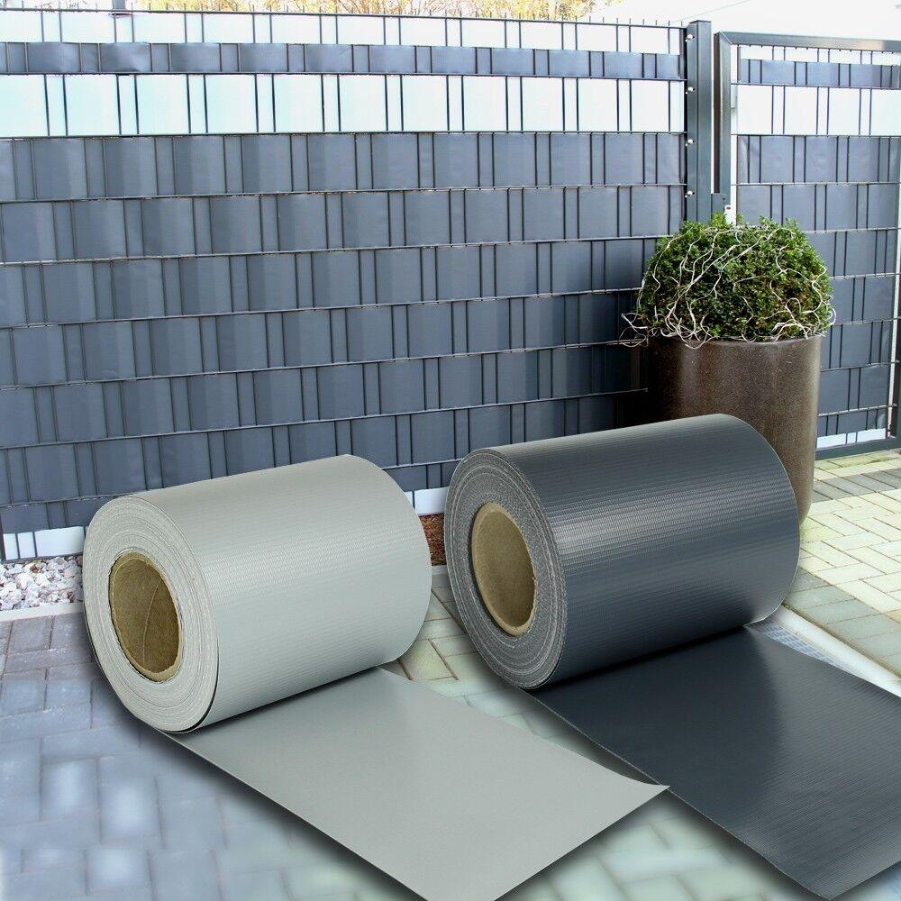 3 23 m sichtschutz streifen blickdicht pvc zaun windschutz doppelstabmatten eur 10 75. Black Bedroom Furniture Sets. Home Design Ideas