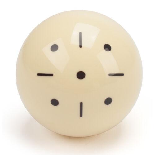 "2-1/4"" Regulation Size Black Dots Billiard Practice Training Pool Cue Ball"