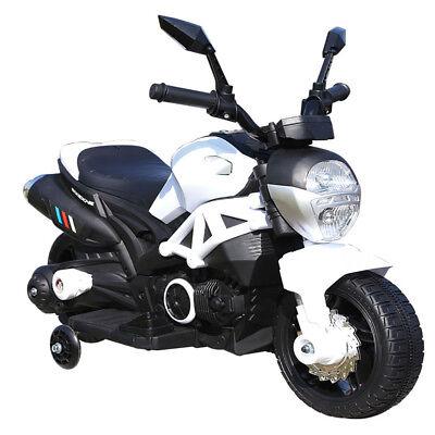 Moto Motocicletta Elettrica per Bambini 6V Kidfun Bianca