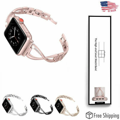 For Apple Watch Series 5 4 3 2 1 Stainless Steel iWatch Band Strap 38/40 42/44mm