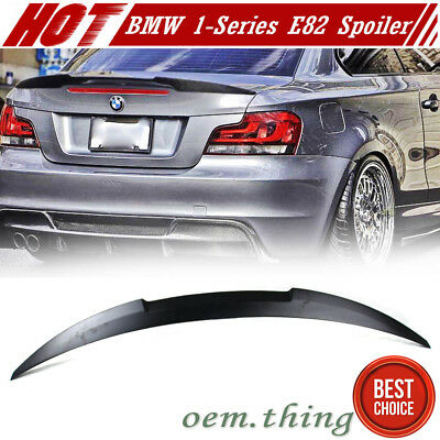 Unpainted BMW E82 1 SERIES 2DR COUPE M4 TYPE BOOT TRUNK SPOILER 13 135i for sale  Shipping to Ireland