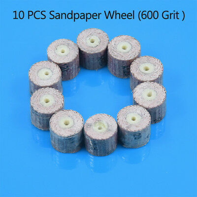 10pcs Sanding Sandpaper Flap Wheel Disc Set 600 Grit Rotary Tools For Dremel