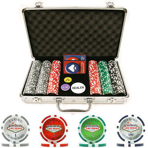 300 15g Clay Welcome to Las Vegas Chip Set with Aluminium Case