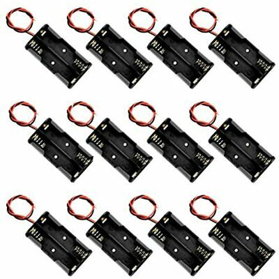 2 X 1.5v Aa Battery Holder Case Box Red Black Wire Leads 12 Pcs Industrial Amp