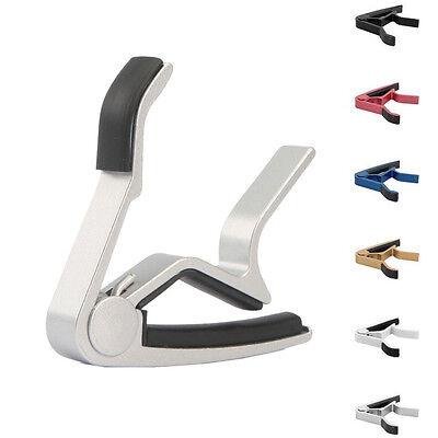 Silver Quick Change Clamp Key Capo for Acoustic Electric Classic Guitar Ukulele