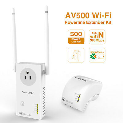 Wavlink AV500 WIFI Powerline.Wireless Powerline &Extender Kit with Power Outlet