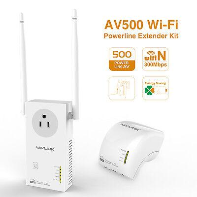 Wavlink AV500 WIFI Powerline.Wireless Powerline &Extender Kit with Power Outlet