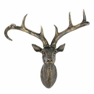 Reindeer Head Wall Sculpture Resin Stag Vintage Retro Deer Decoration Gift