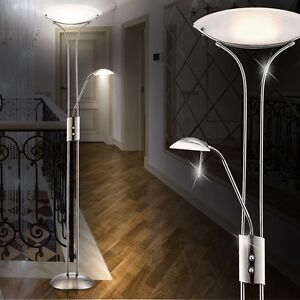 Deckenfluter Stehlampe Wohnzimmer Leuchte 20,5 W LED Licht Leselampe Beleuchtung
