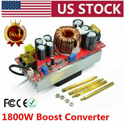 1800w Dc-dc Boost Converter 10-60v To 12-90v 22a Step-up Power Supply Module Us