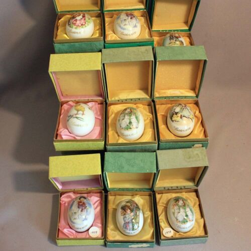 26 Vintage ROYAL BAYREUTH Porcelain EASTER EGGS 1974 1975 1976 1977 1978 1979 80