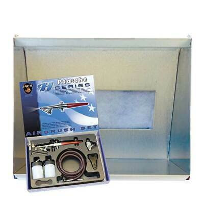 Paasche HSSB-22-16 Spray Booth & H-SET Single Action Airbrush Set