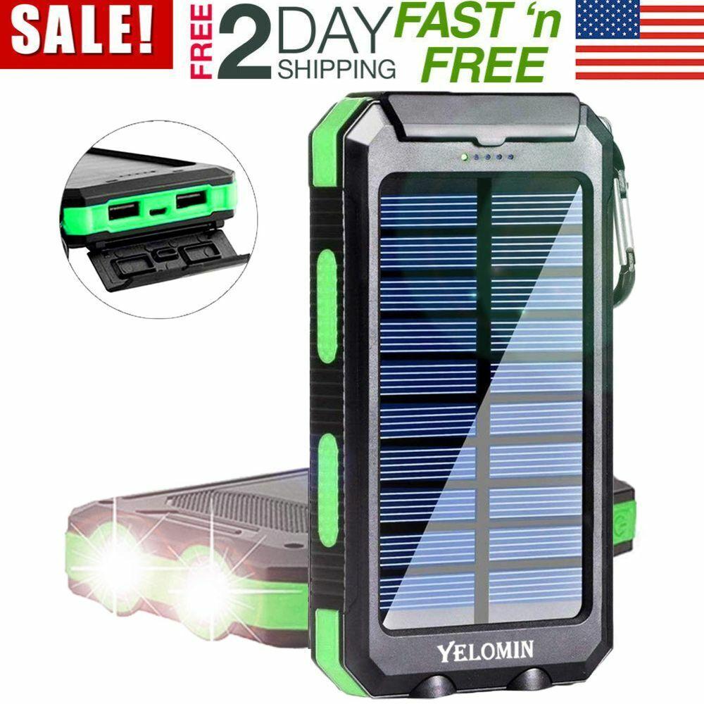 Solar Charger, Yelomin 20000mAh Portable Outdoor Waterproof