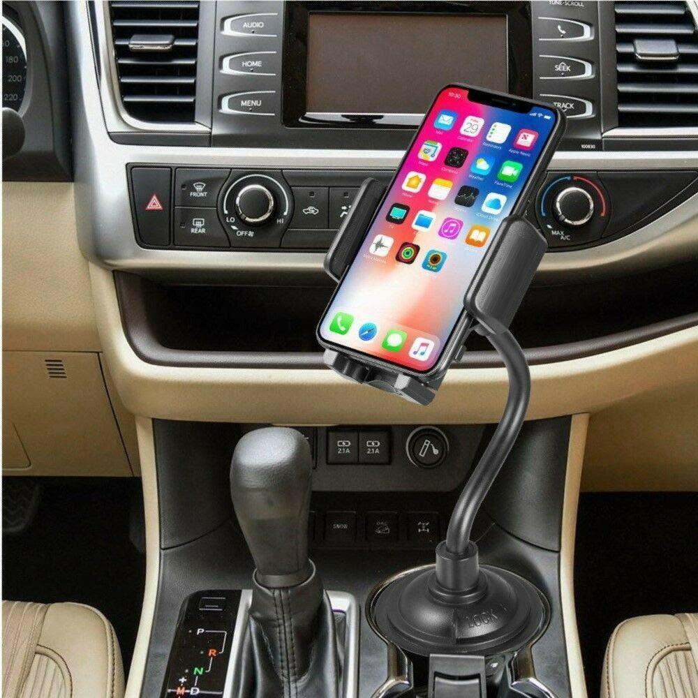 Universal Car Mount Adjustable Gooseneck Cup Holder Cradle f
