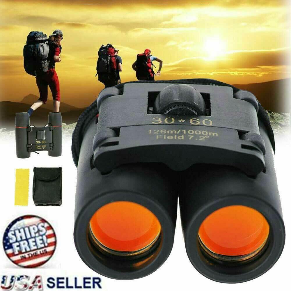 Binoculars 30×60 Zoom Outdoor Travel Compact Folding Telescope Hunting Day/Night Binoculars & Monoculars