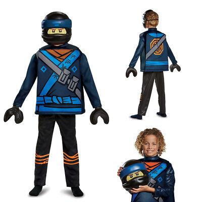 Boys Ninjago Jay Movie Deluxe Halloween Costume](Blue Jay Halloween Costume)
